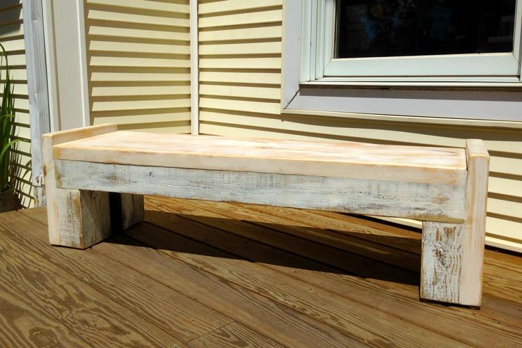 Mo-fer - Vert Partout - Table ou banc en pin et pruche