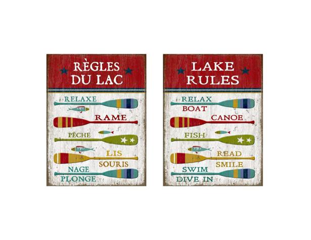 Les règles du lac