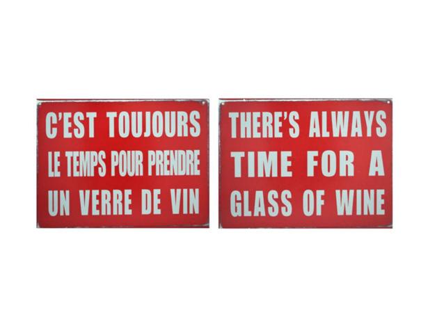 C'est toujours le temps de prendre un verre de vin