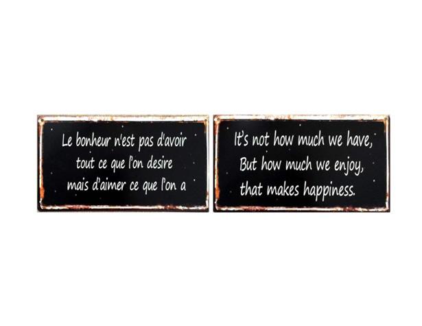 Le bonheur n'est pas d'avoir tout ce que l'on désire mais d'aimer ce que l'on a