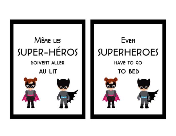 Même les super-héros doivent aller au lit