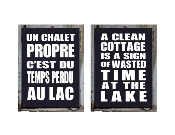 Un chalet propre, c'est du temps perdu au lac