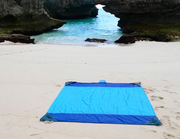 Couverture de plage en toile parachute